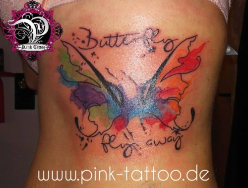 Butterfly Color Aquarell
