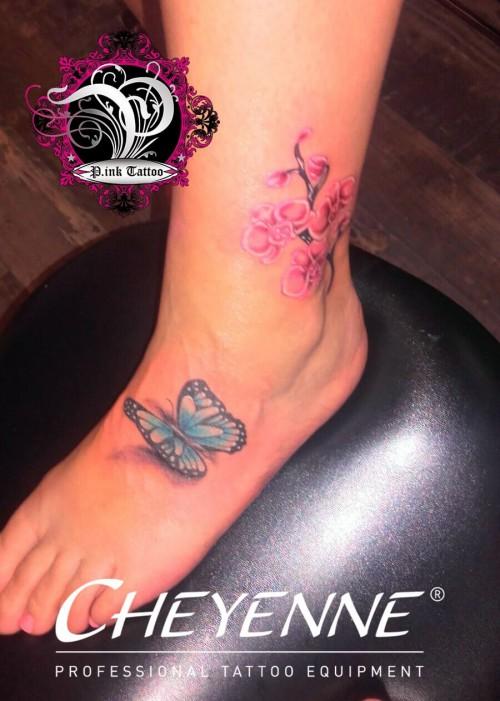 Butterfly & Orchideen