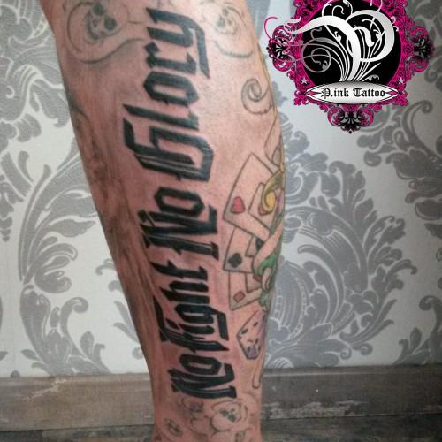 "Schriftzug ""No Fight No Glory"""