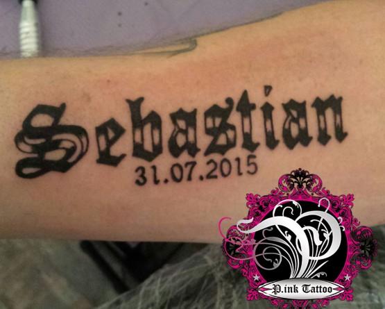 """Schriftzug """"Sebastian"""""""