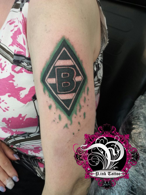 Fussball Gladbach Pink Tattoo Piercing Studio