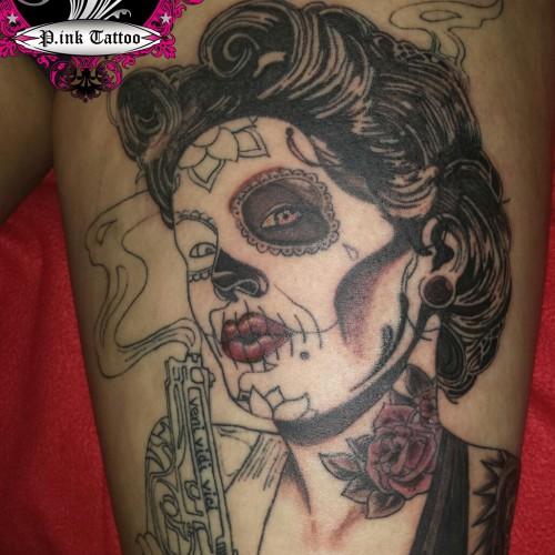 """LA Catrina """"Mexikanische Totenmaske"""""""