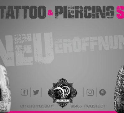 Neueröffnung P.ink Tattoo und Piercingstudio in Neustadt bei Coburg
