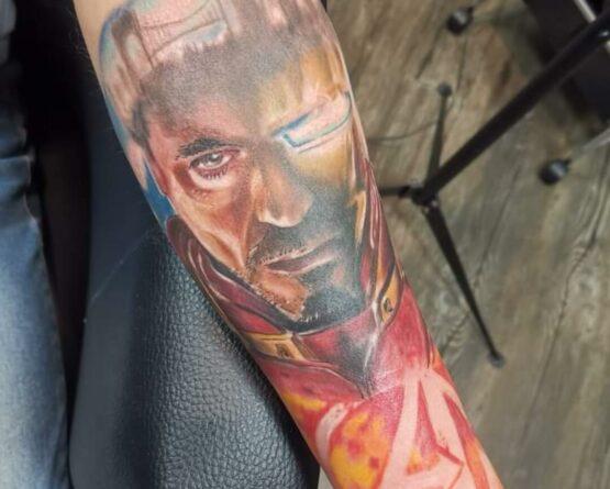 Tony Stark Iron Man Avengers Tattoo
