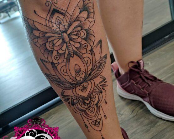 Schmetterling Mandala Tattoo